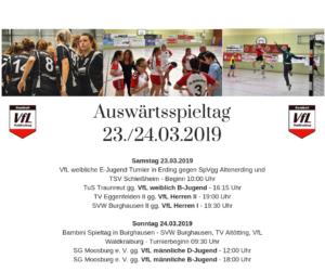 Auswärtsspieltag am 23./24.03.2019