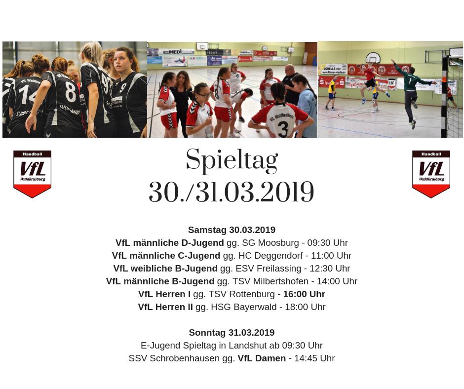 Spieltag 30./31. März 2019