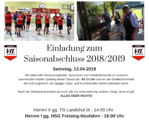 Saisonabschluss 2018 / 2019